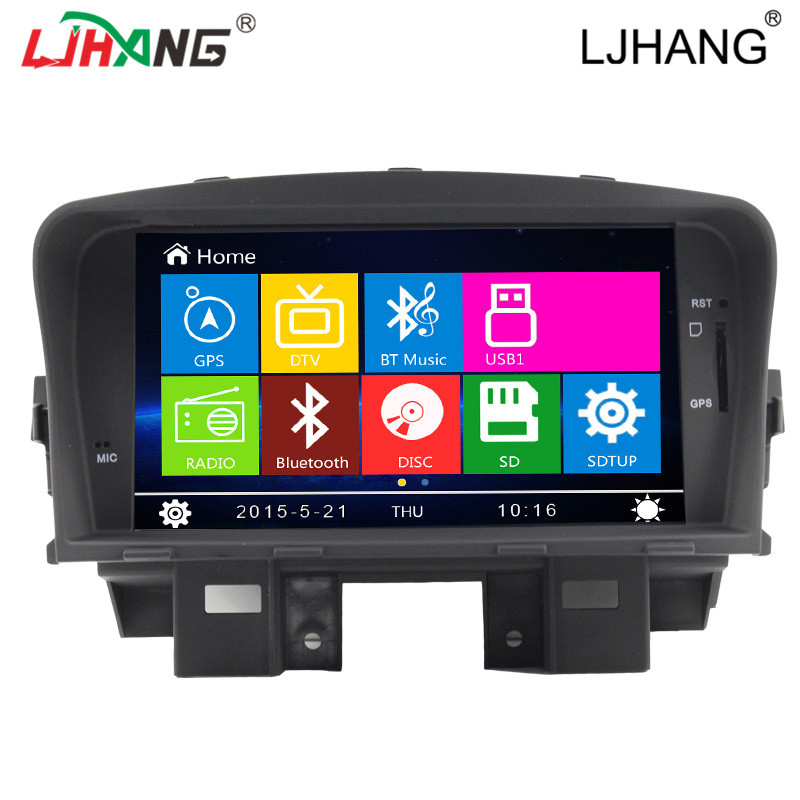 Car DVD Automotivo For Chevrolet Cruze 2008 - 2012 with multimedia GPS Navigation Radio Bluetooth