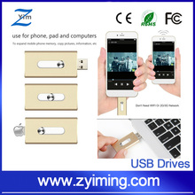 Zyiming iFlash Device 16GB 32GB 64GB OTG USB Flash Drive for iPhone 5/5C/5S/6/6S, iPod, iPad iTouch