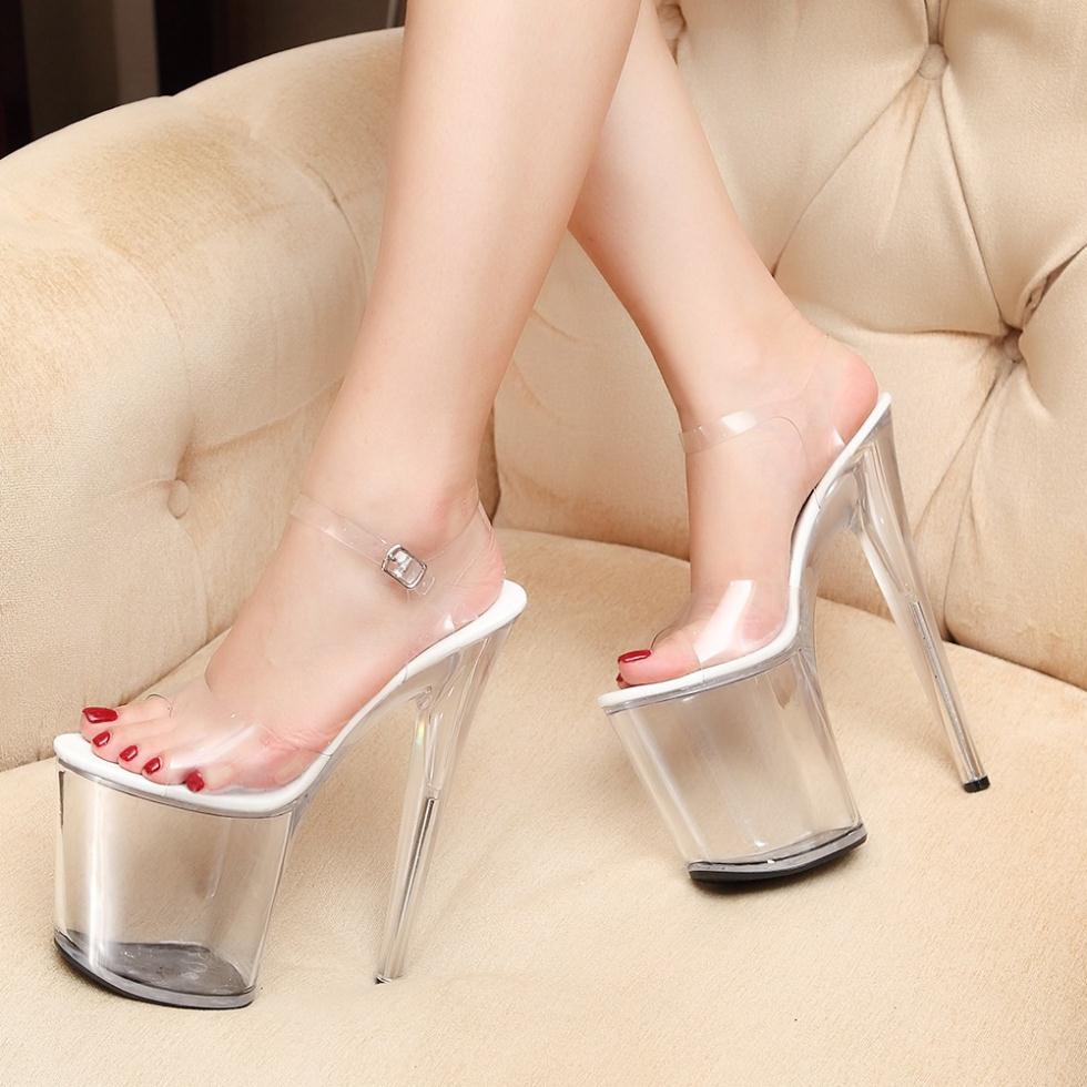 20 cm high heeled black mules 3