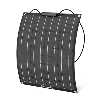 ALLPOWERS 50W 18V 12V ETFE Flexible Solar Panel Charger Semi Bendable Solar Charger for RV, Boat, Cabin, Tent