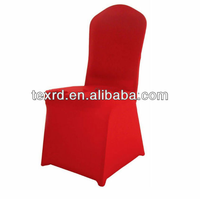 Red Spandex chair Cover for wedding chair cover