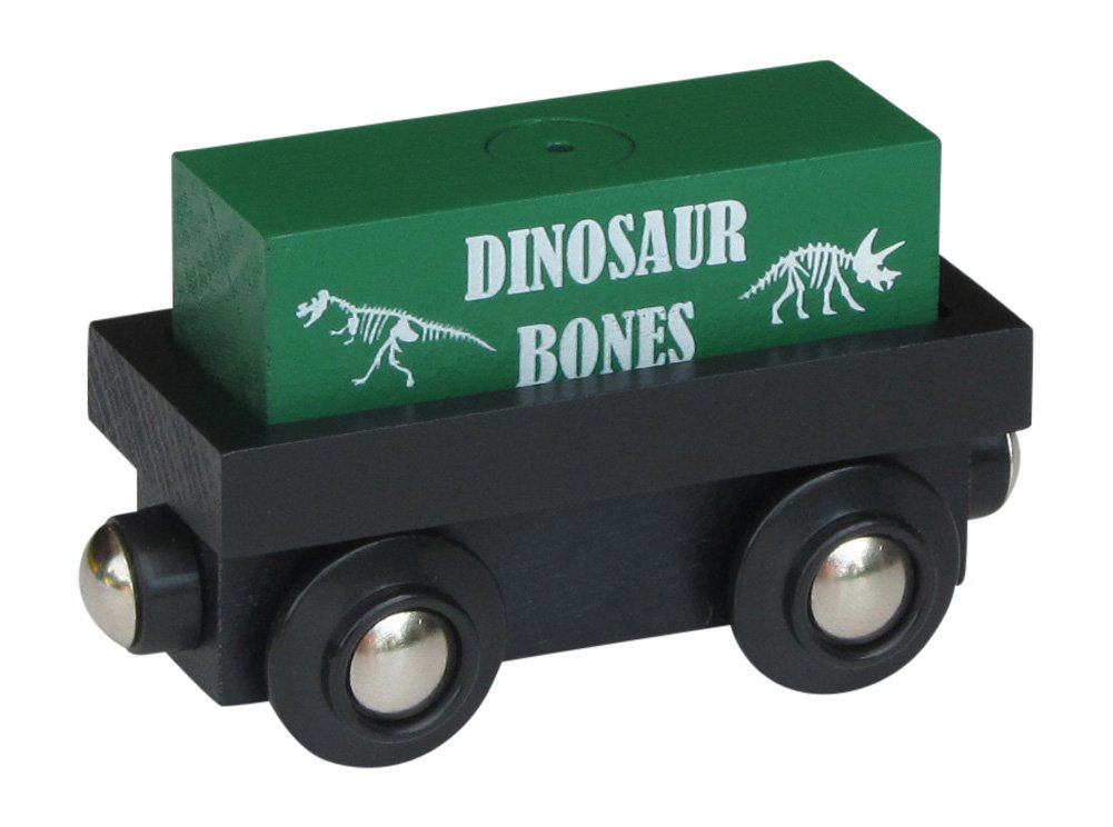 "Cargo Car with removable ""Dinosaur Bones"" magnetic cargo wooden train"