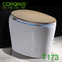 Energy saving electric hotel intelligent sensor heated soft close toilet seat