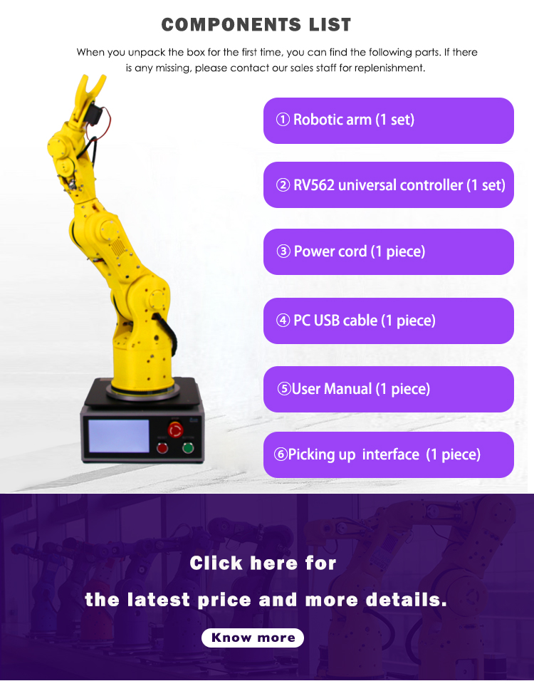 Preço competitivo Robô Industrial 6 Axis 7Bot Manipulator Robotic Arm Fornecedor