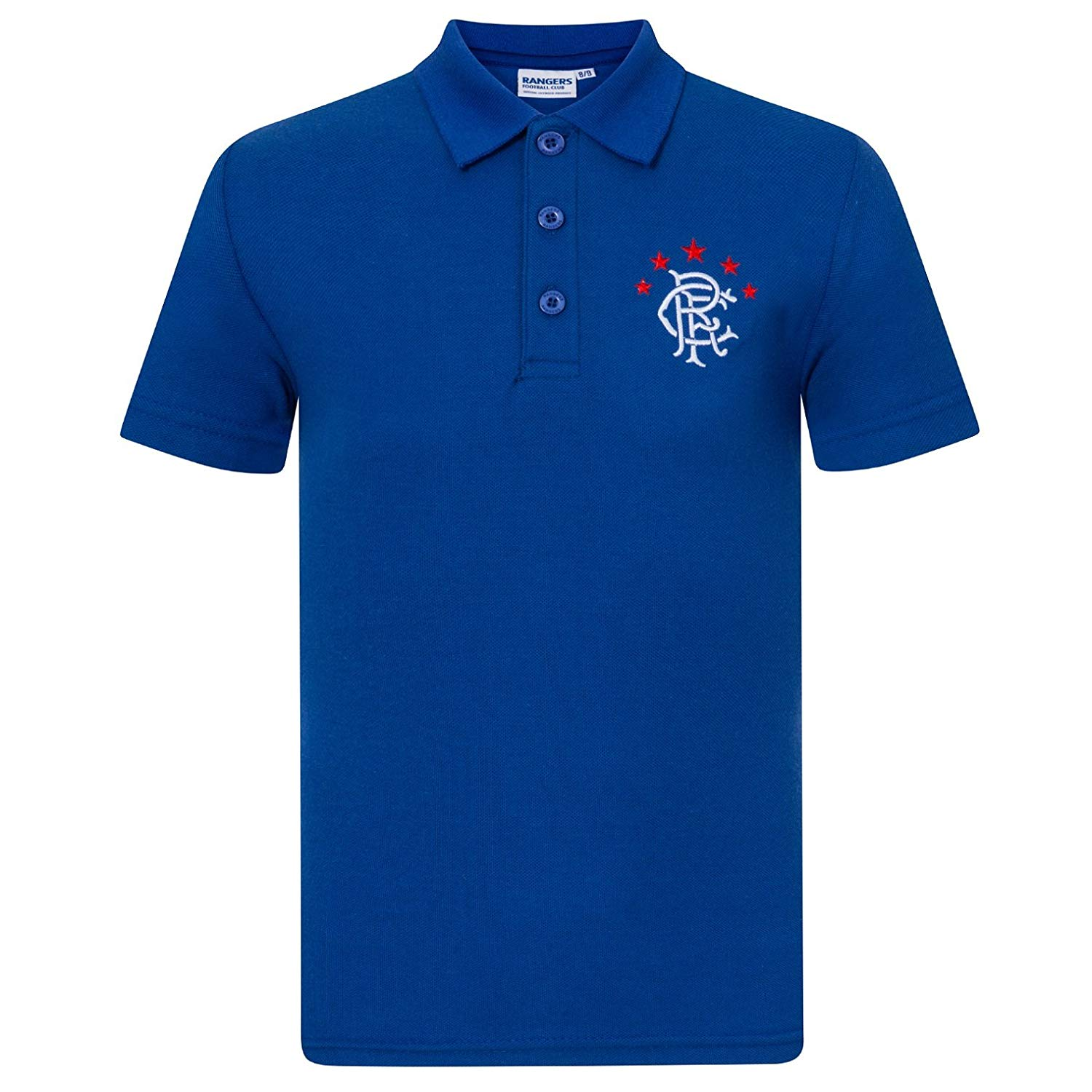 1f4750bf3 Get Quotations · Rangers Football Club Official Soccer Gift Boys Crest Polo  Shirt