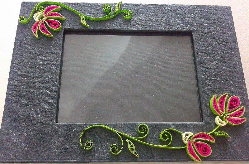 Handmade Quilled Photo Frames-oleander Photo Frame - Buy Handmade ...