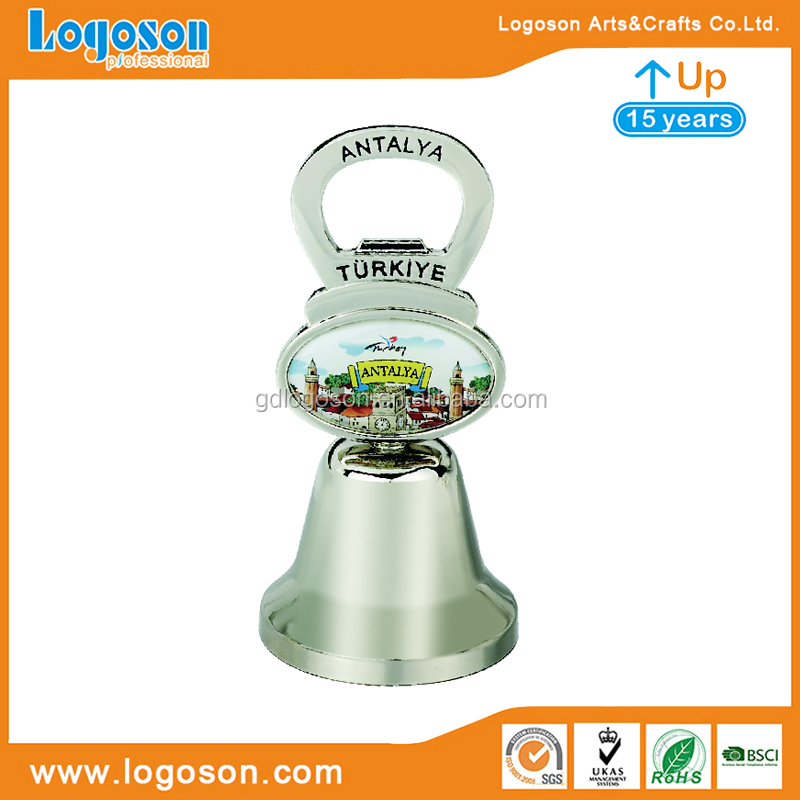 Free Design Turkey Kemer Antalya Souvenirs Evil Eye Metal Dinner Bells Pewter Hand Bells Sale Creative Bottle Opener Bell