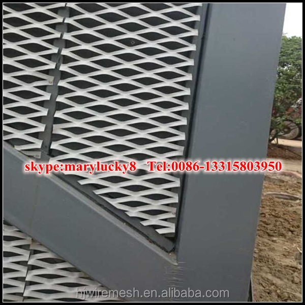 Aluminum Ally Expanded Metal sheet panels for curtain wall mesh