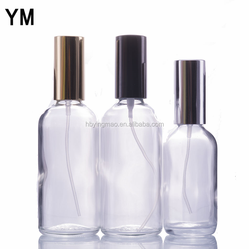 New 30ml Clear Cosmetic Glass Mist Spray Bottle with Aluminium Spray Top for Perfume