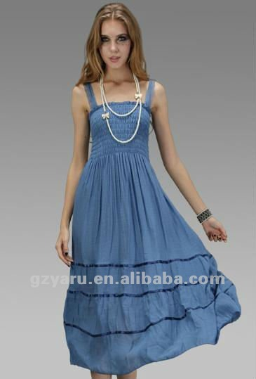 long clothing dress Ladies Linen Casual