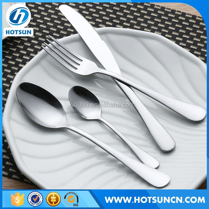 Stainless Steel Cutlery 18 10 And Flatware Set With Iron