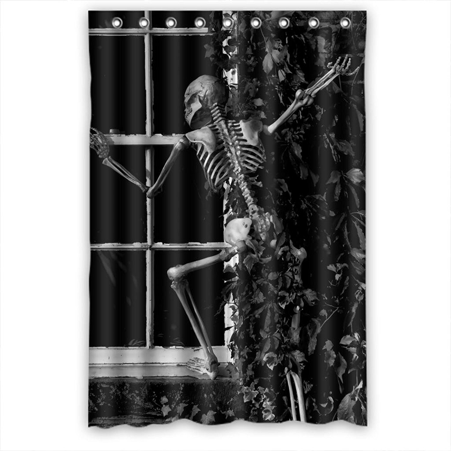 for bath elegant by geometric abstract resistant duty x heavy mildew polyester waterproof pin curtain ufelicity decor curtains design and grey any shower