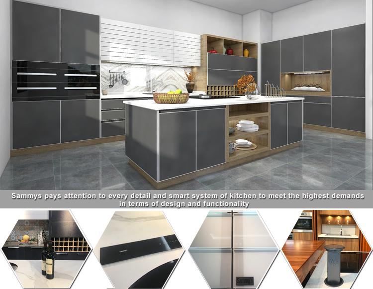 sk303 phong cách Mỹ phẳng gói trang bị tốt mô hình nhà bếp pantries thương hiệu nội các Trung Quốc giá rẻ