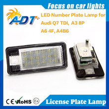 Super Canbus Number Plate Lamp For Audi Q7 TDI A3 8P A6 4F A4 B6 License Plate Light Car Accessories
