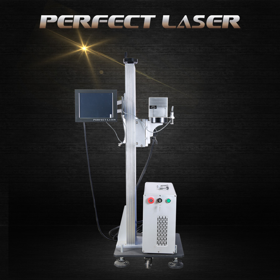 High efficiency portable flying fiber laser marking machine for sale with cheap price