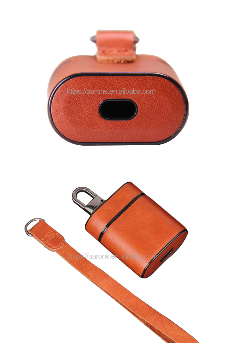Wholesale shockproof waterproof protective popular leather headphone case wireless earphone case for earphone for airpods