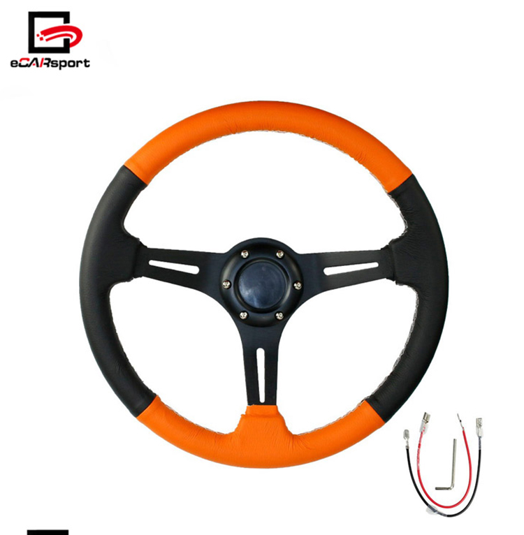 Racing Deep Dish PVC Steering Wheel for Honda for Civic