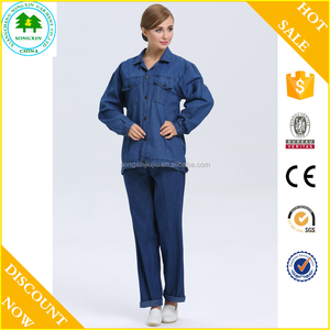 2016 new design women jean pants workwear coverall