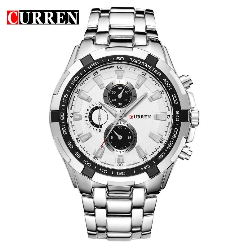 Original quality male business wristwatch japanese movement quartz clock for men curren brand 8023 luxury stainless steel watch фото