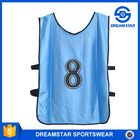 Custom Top Quality Men Sport Vests With Own Logo adding number Silk material bibs