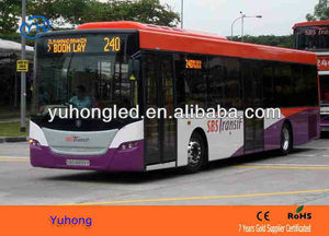 Amber high brightness bus led route sign