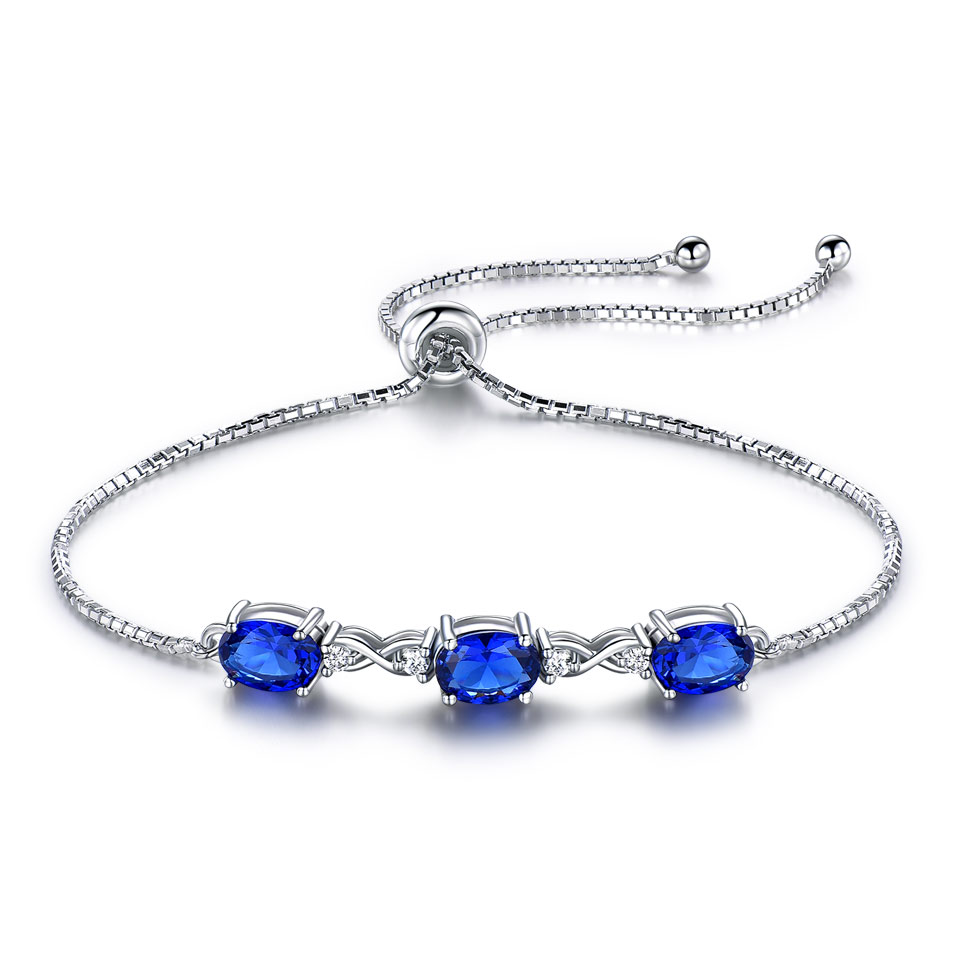 Silver Jewelry 925 Sterling Silver Female <strong>Bracelets</strong> For Women Nano Sapphire Adjustable <strong>Tennis</strong> Stone <strong>Bracelet</strong> Jewelry