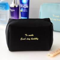 Multicolored Portable Travel Toiletry Pouch Makeup Organizer nylon cosmetic bag with zipper