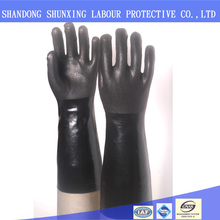 long sleeve fishing non-disposable rubber latex safety gloves