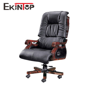 Solid wood big boss office chair