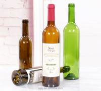 High quality 200ml 375ml 500ml 750ml 1l 1.5l long neck glass red wine bottle