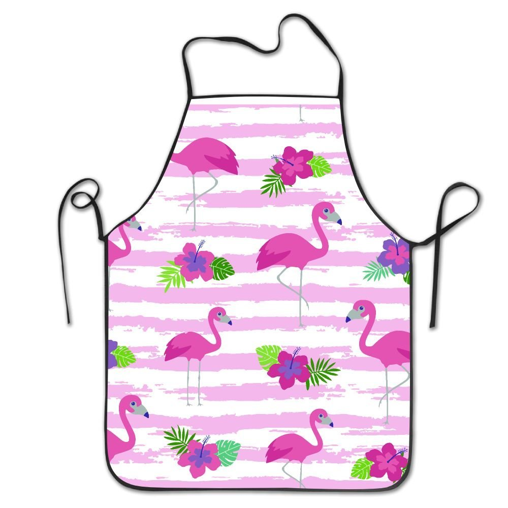 RZ GMSC Novelty Pink Flamingo Unique Unisex Kitchen Chef Apron - Chef Apron For Cooking,Baking,Crafting,Gardening And BBQ