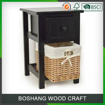 Wicker Bedside Table Rattan Coffee Tables Graying Cream