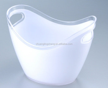 8l Large White Plastic Wine Party Tub