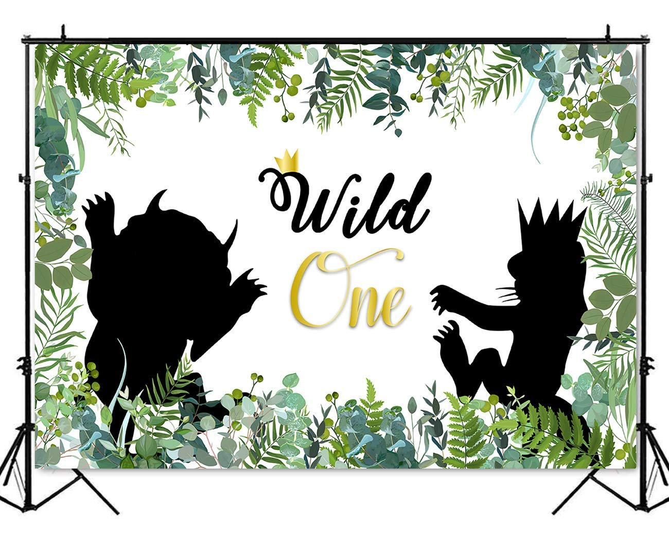 Mehofoto Wild One Backdrop 5x7ft Vinyl Thing Animal In Jungle First Birthday Background Baby 1st