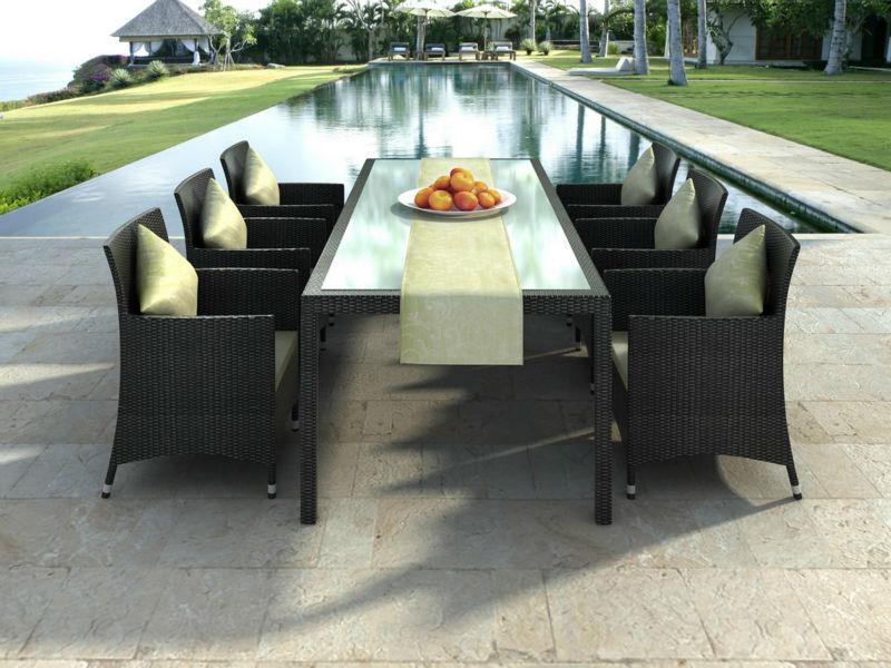 salle manger d 39 exterieur en rotin stock offre limit e mobilier d 39 ext rieur id de produit. Black Bedroom Furniture Sets. Home Design Ideas