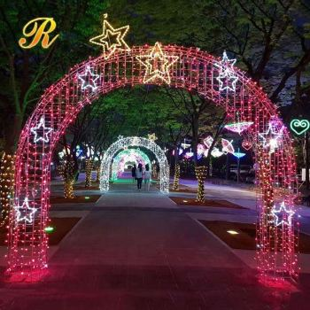 Hot Sale Metal Led Arch Light For Indian Wedding Decoration