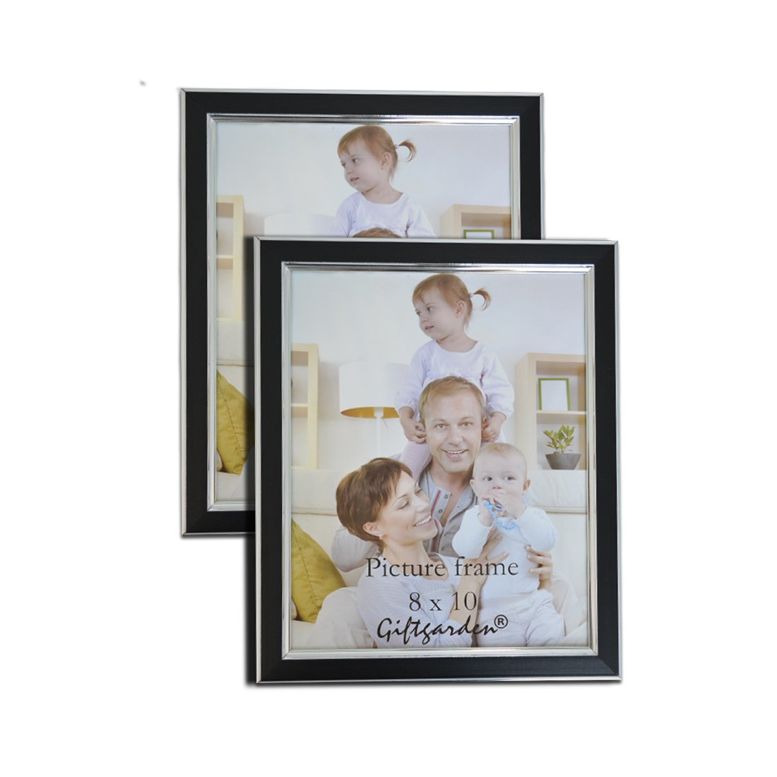 Giftgarden Multi 8x10 Picture Frames Collage Photos 8 x 10 Wall Frame Set of 2 pcs, PVC Lens