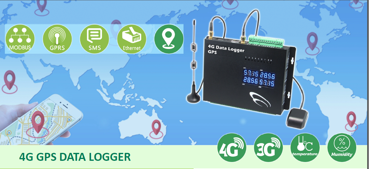Modbus RS485 Interfaccia 4G ed Ethernet Data Logger gps dispositivo di tracciamento