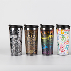 Stainless Double Wall Cup Coffee Cups Coffee Free Sample Low MOQ Best Quality 18/8 Stainless Steel Double Wall Reusable Coffee Cup With Custom Logo With Lid
