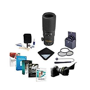 Nikon 200mm f/4D ED-IF AF Micro NIKKOR Lens - USA Warranty - Bundle with 62mm Filters & Pro Software