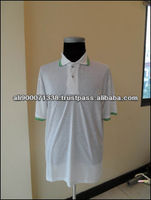 Vietnam OEM 100% COTTON Men's white polo T shirt