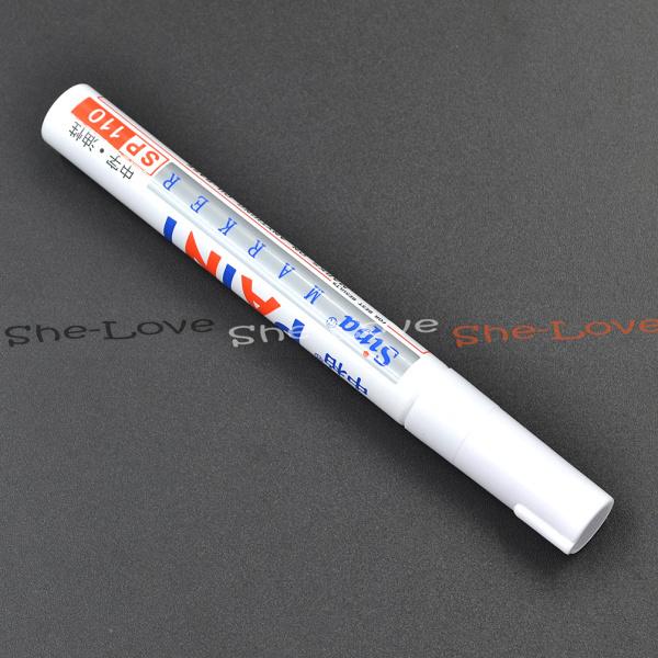 6 шт. универсальный водонепроницаемый постоянный краска маркер автомобилей шин протектора резина металл