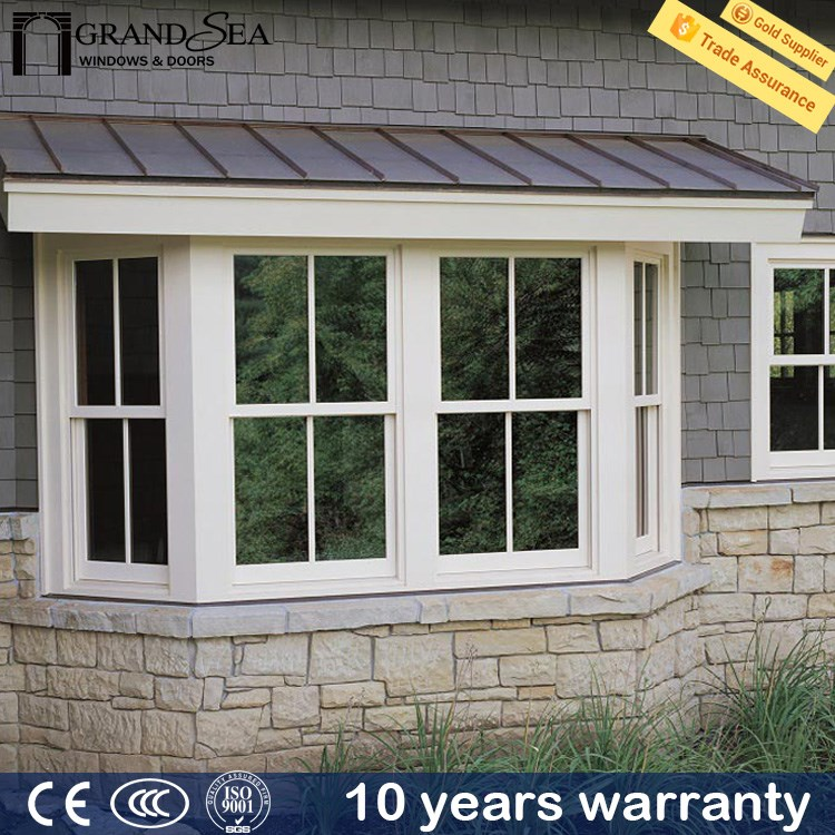 Customized outward open upvc top hung window stay with fly net