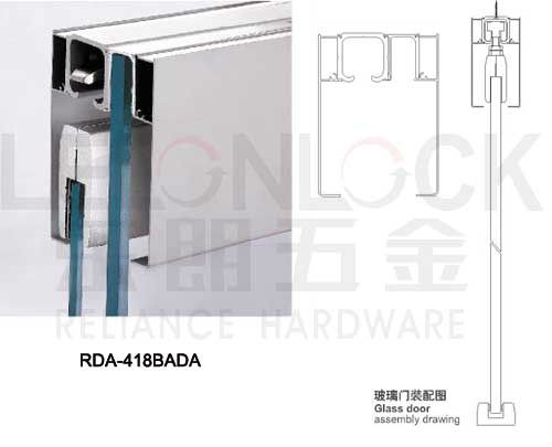 Aluminium Alloy Material Sliding Glass Door Hanging Wheel Track