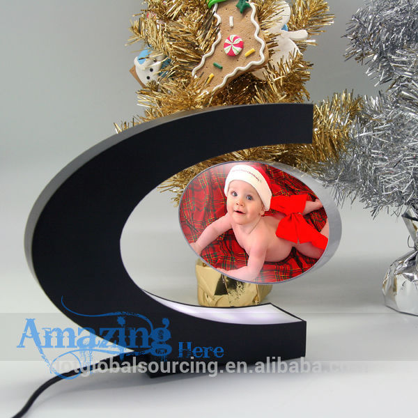 photo Display with light digital display Magic Magnetic Levitating digital picture frame Suspension frame rahmen