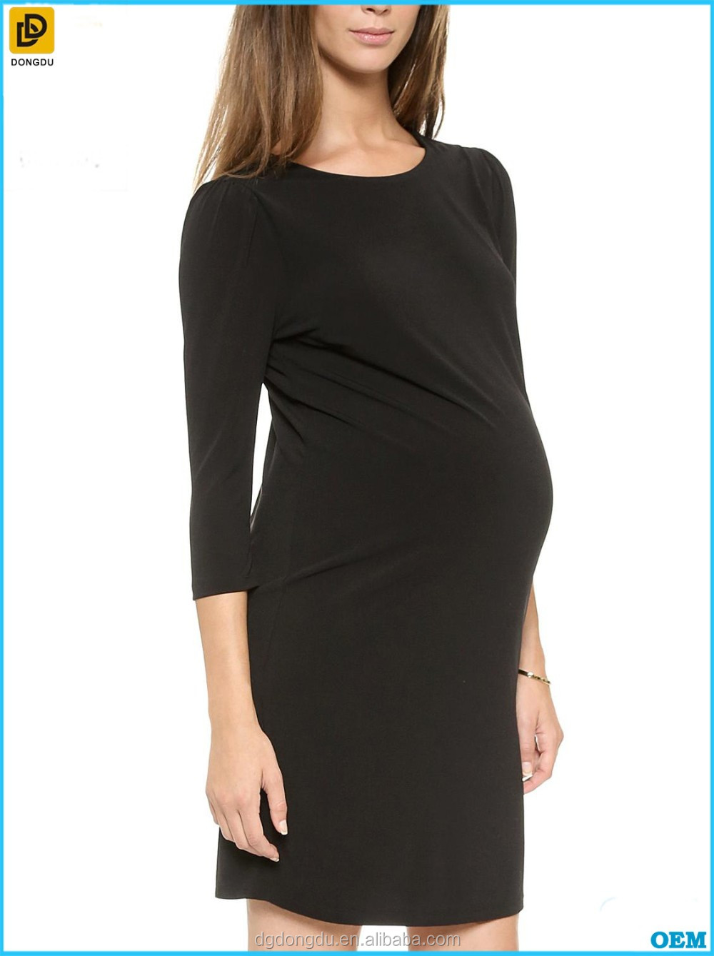 2017 wholesale Black office maternity dresses for office lady
