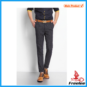 Mens name brand plaid pants tartan trousers for golf wear
