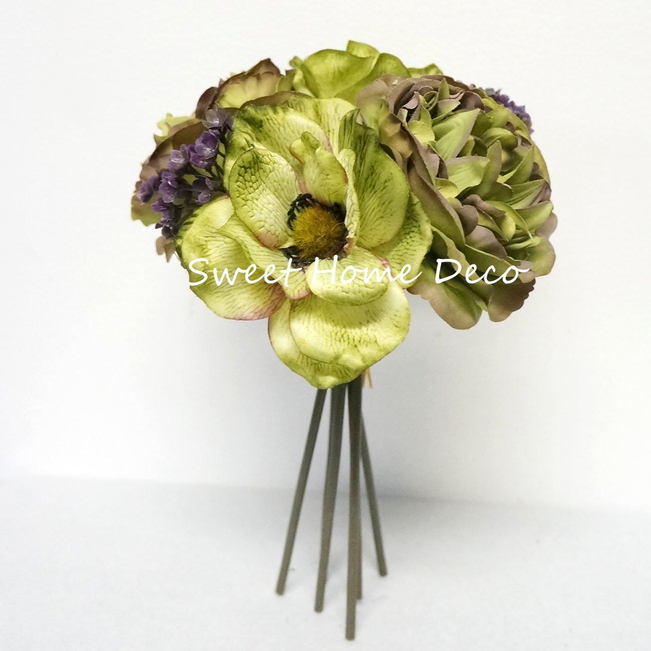 Cheap peony silk flower bouquet find peony silk flower bouquet sweet home deco 10 silk anemone peony flower two tone bouquet 6 stems petite mightylinksfo