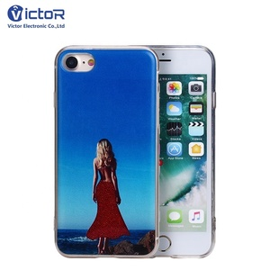 Hot Girl Changing Dress Special Quicksand Liquid Phone Case for iPhone X Case
