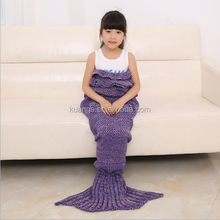 baby chunky knit throw mermaid tail blanket